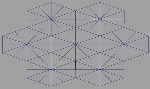 wireframe of prismacam's geometry